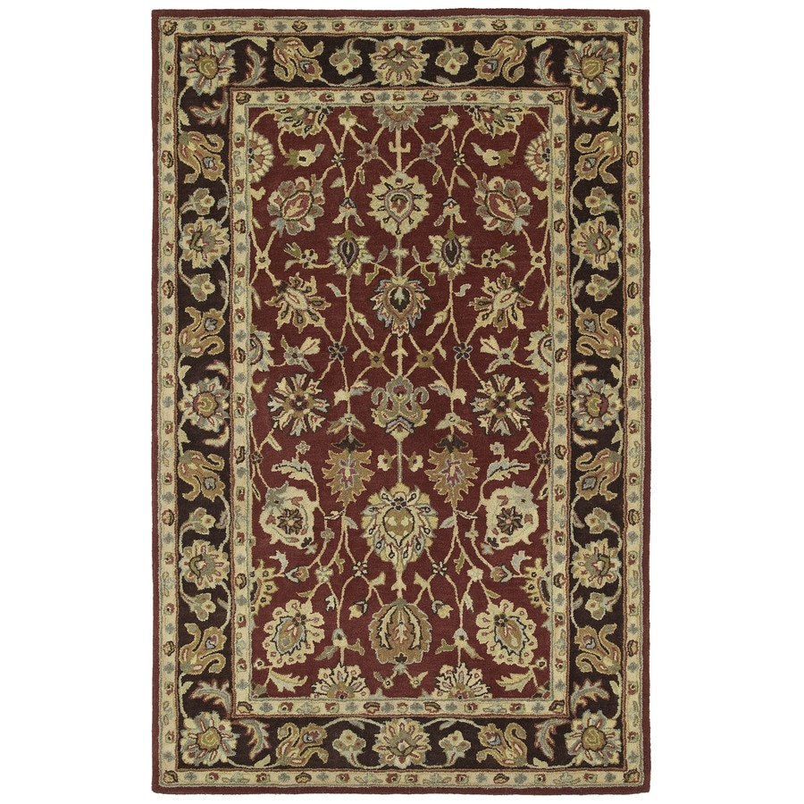 Kaleen Heirloom Burgundy Rectangular Indoor Tufted Area Rug (Common: 5 x 8; Actual: 60-in W x 93-in L)
