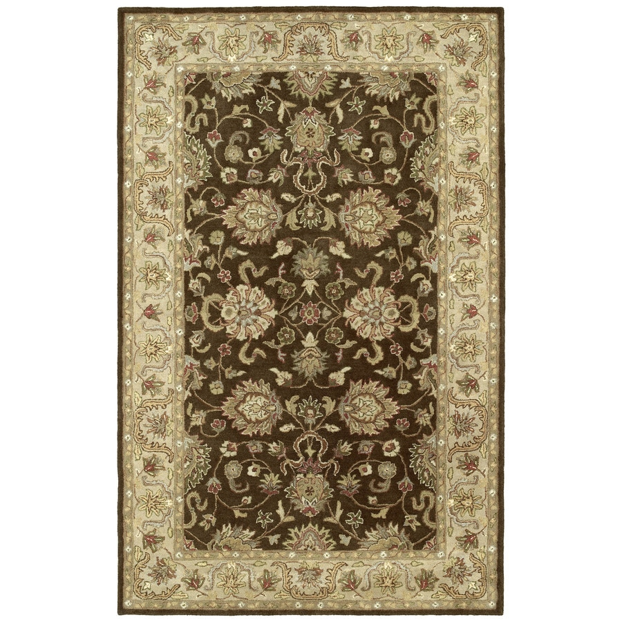 Kaleen Heirloom Brown Rectangular Indoor Tufted Area Rug (Common: 8 x 10; Actual: 96-in W x 120-in L)