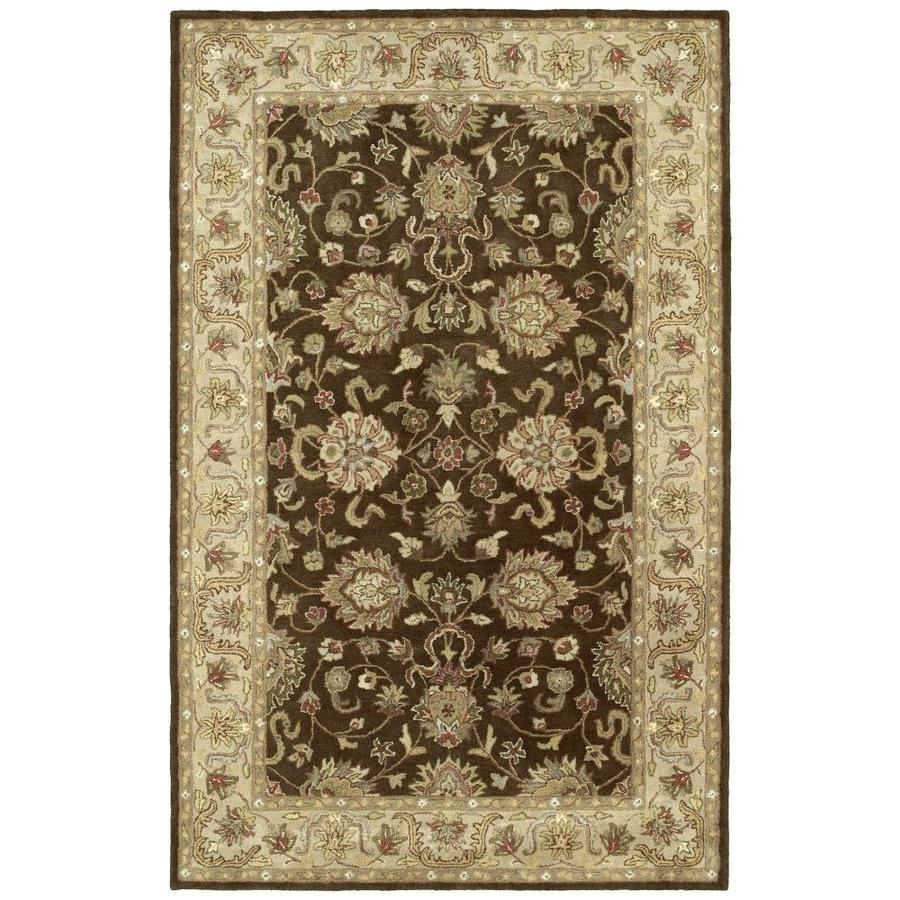 Kaleen Heirloom Brown Rectangular Indoor Handcrafted Oriental Area Rug (Common: 10 x 14; Actual: 10-ft W x 14-ft L)