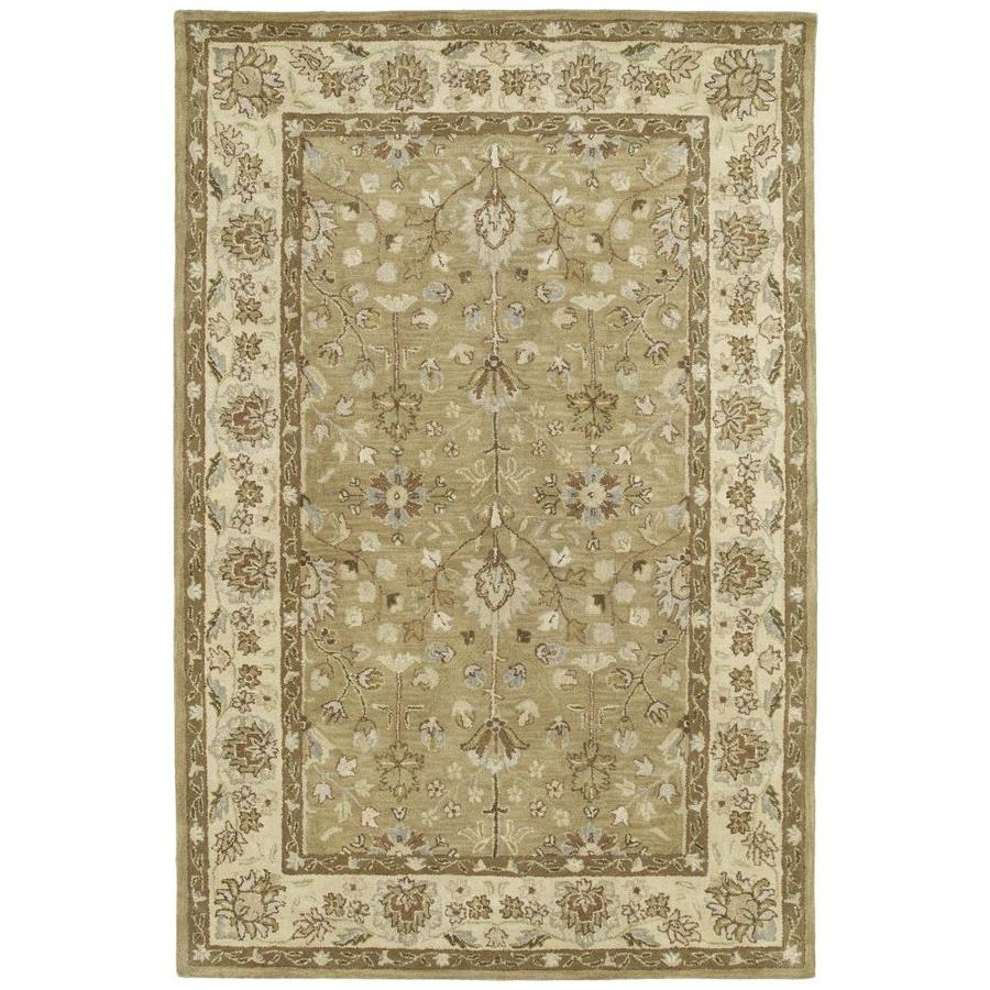 Kaleen Heirloom Camel Rectangular Indoor Handcrafted Oriental Area Rug (Common: 9 x 12; Actual: 9-ft W x 12-ft L)