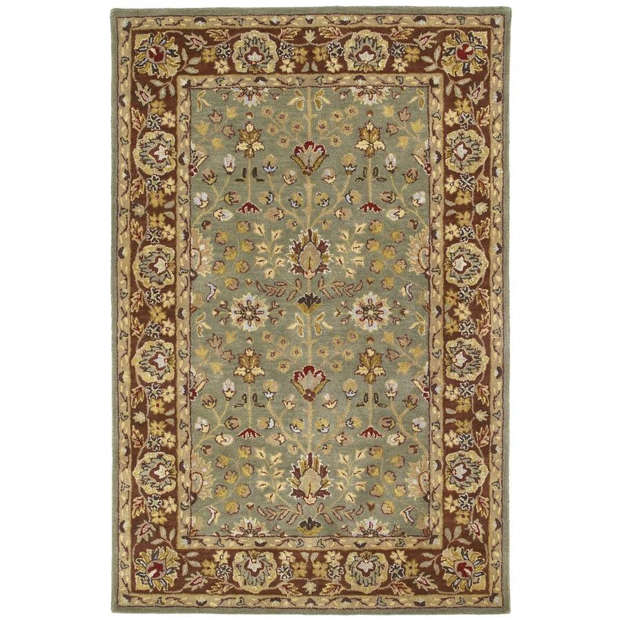 Kaleen Heirloom Beryl Rectangular Indoor Handcrafted Oriental Area Rug (Common: 4 x 6; Actual: 4-ft W x 6-ft L x 0-ft Dia)