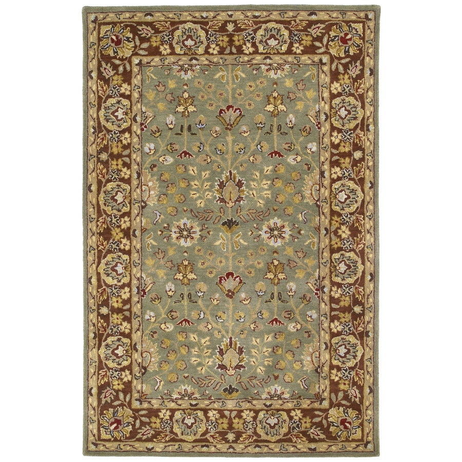 Kaleen Heirloom Beryl Rectangular Indoor Handcrafted Oriental Area Rug (Common: 8 x 10; Actual: 8-ft W x 10-ft L x 0-ft Dia)