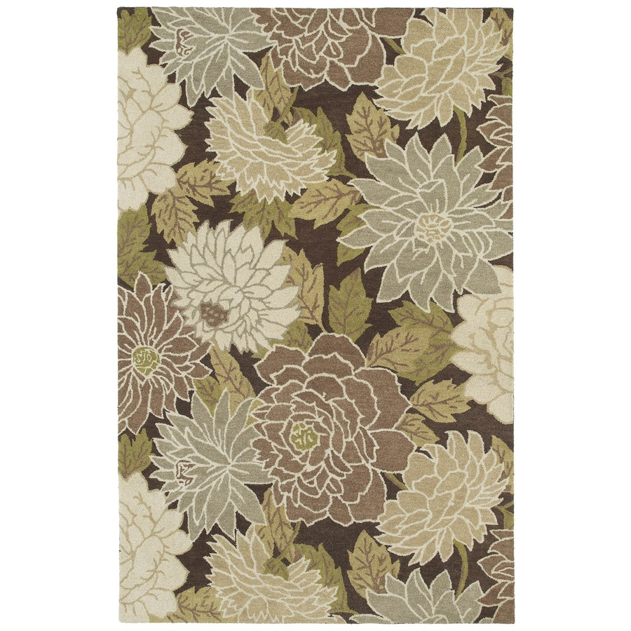 Kaleen Botany Brown Rectangular Indoor Hand-Hooked Area Rug (Common: 8 x 11; Actual: 96-in W x 132-in L)