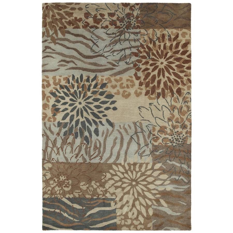 Kaleen Botany Multi Rectangular Indoor Handcrafted Nature Area Rug (Common: 5 x 7; Actual: 5-ft W x 7.5-ft L)