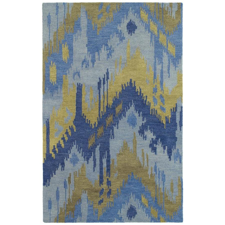 Kaleen Casual Blue Rectangular Indoor Handcrafted Southwestern Throw Rug (Common: 3 x 5; Actual: 3-ft W x 5-ft L)