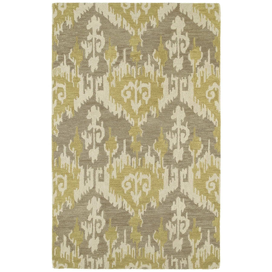Kaleen Casual Graphite Rectangular Indoor Handcrafted Southwestern Area Rug (Common: 5 x 7; Actual: 5-ft W x 7.5-ft L)