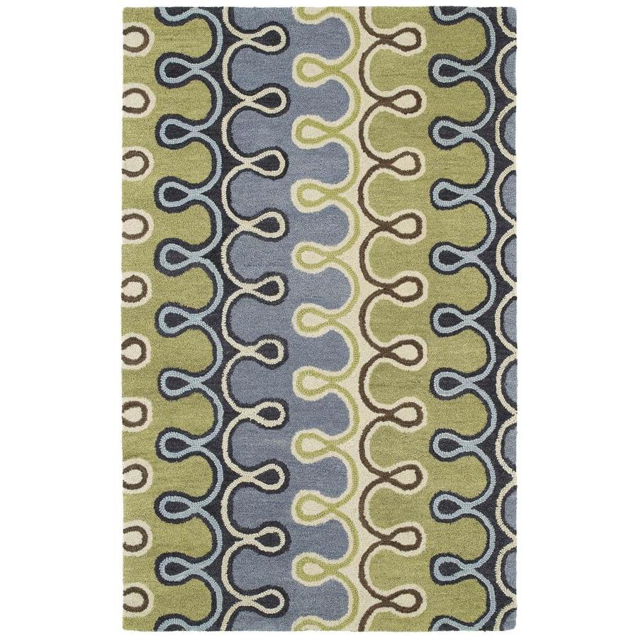 Kaleen Casual Blue Rectangular Indoor Handcrafted Throw Rug (Common: 3 x 5; Actual: 3-ft W x 5-ft L)