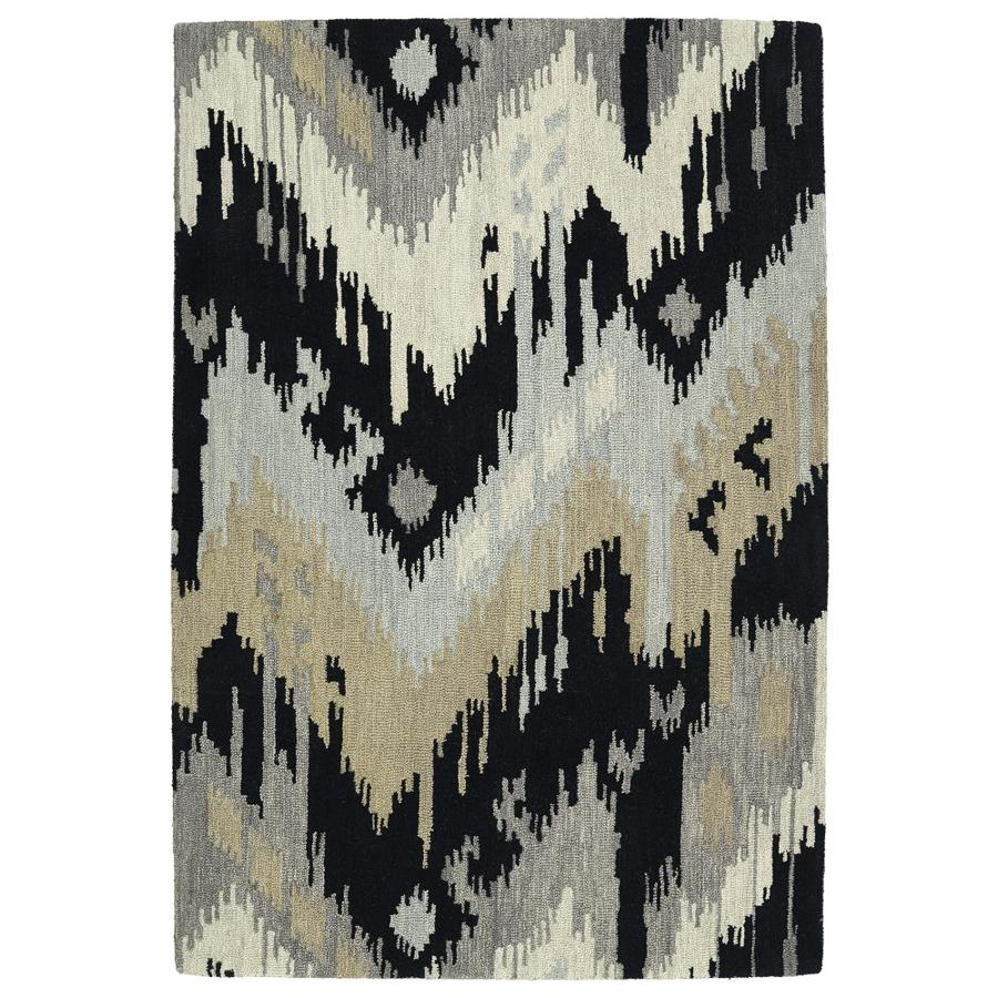 Kaleen Casual Black Indoor Handcrafted Southwestern Area Rug (Common: 5 x 8; Actual: 5-ft W x 7.5-ft L)
