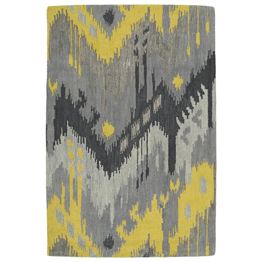 Kaleen Casual Grey Rectangular Indoor Handcrafted Southwestern Area Rug (Common: 5 x 8; Actual: 5-ft W x 7.5-ft L)