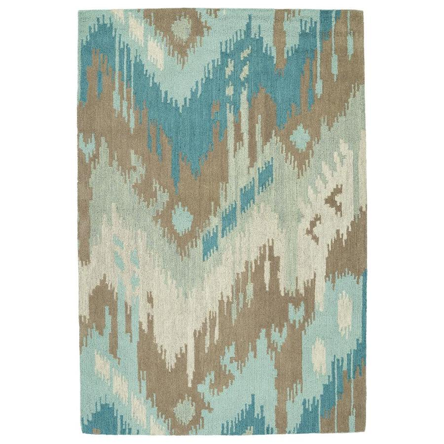 Kaleen Casual Mint Rectangular Indoor Handcrafted Southwestern Throw Rug (Common: 3 x 5; Actual: 3-ft W x 5-ft L)