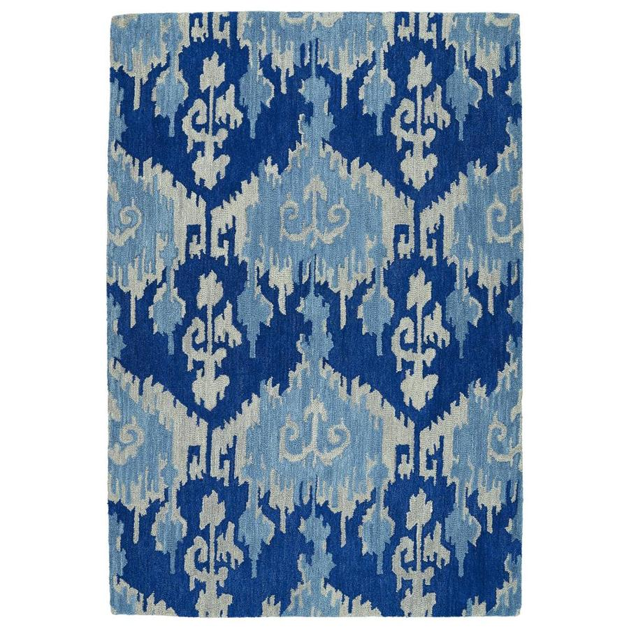 Kaleen Casual Denim Rectangular Indoor Handcrafted Southwestern Area Rug (Common: 8 x 11; Actual: 8-ft W x 11-ft L)