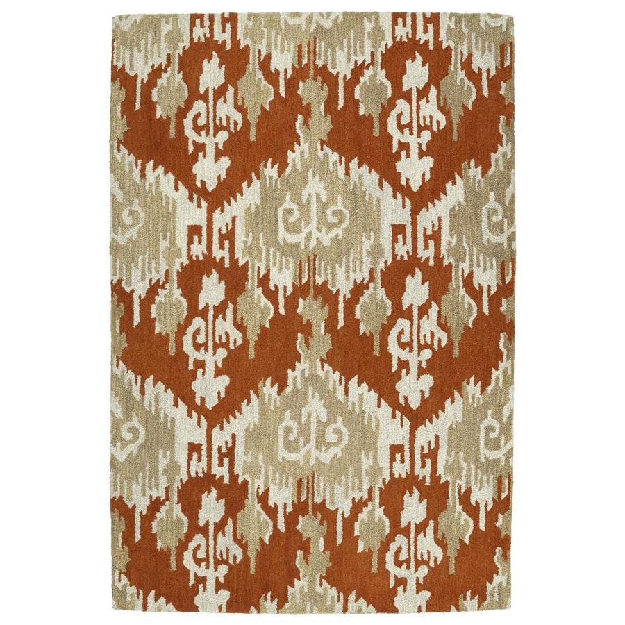 Kaleen Casual Paprika Rectangular Indoor Handcrafted Southwestern Area Rug (Common: 5 x 8; Actual: 5-ft W x 7.5-ft L)
