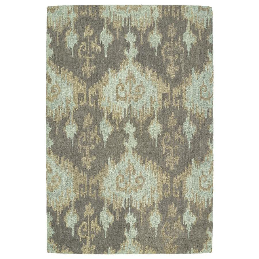Kaleen Casual Mint Indoor Handcrafted Southwestern Throw Rug (Common: 3 x 5; Actual: 3-ft W x 5-ft L)