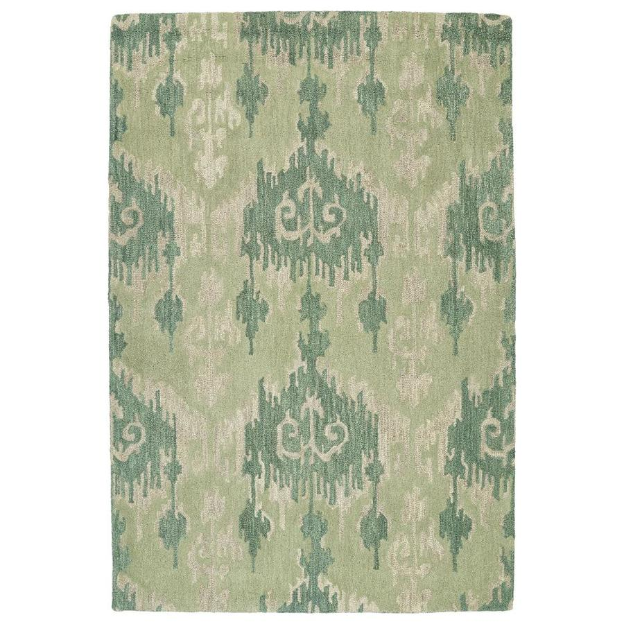 Kaleen Casual Seafoam Indoor Handcrafted Southwestern Area Rug (Common: 5 x 8; Actual: 5-ft W x 7.5-ft L)