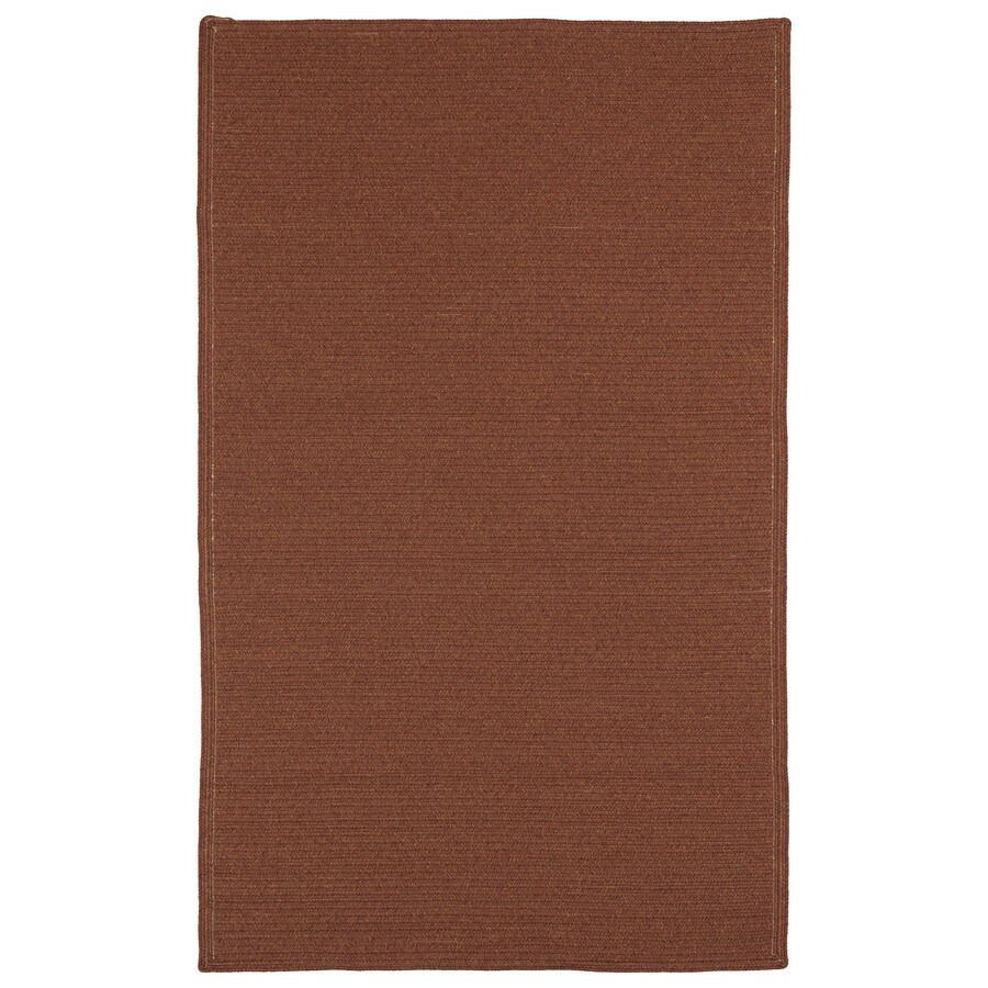 Kaleen Bikini Paprika Rectangular Indoor and Outdoor Hand-Hooked Area Rug (Common: 8 x 11; Actual: 96-in W x 132-in L)