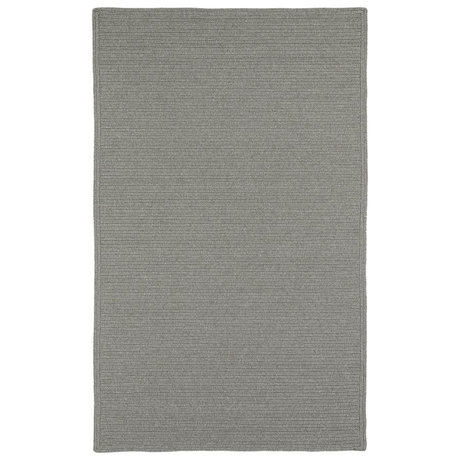 Kaleen Bikini Pewter Rectangular Indoor/Outdoor Handcrafted Lodge Area Rug (Common: 9 x 12; Actual: 9-ft W x 12-ft L)