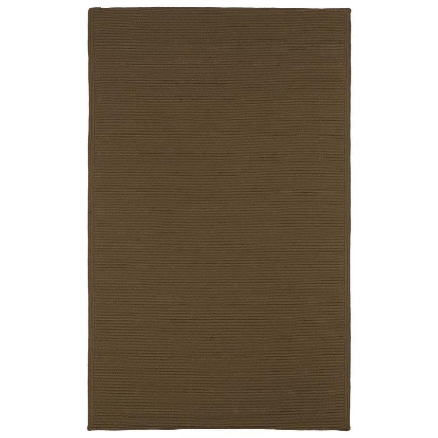 Kaleen Bikini Chocolate Rectangular Indoor/Outdoor Handcrafted Novelty Throw Rug (Common: 3 x 5; Actual: 3-ft W x 5-ft L)