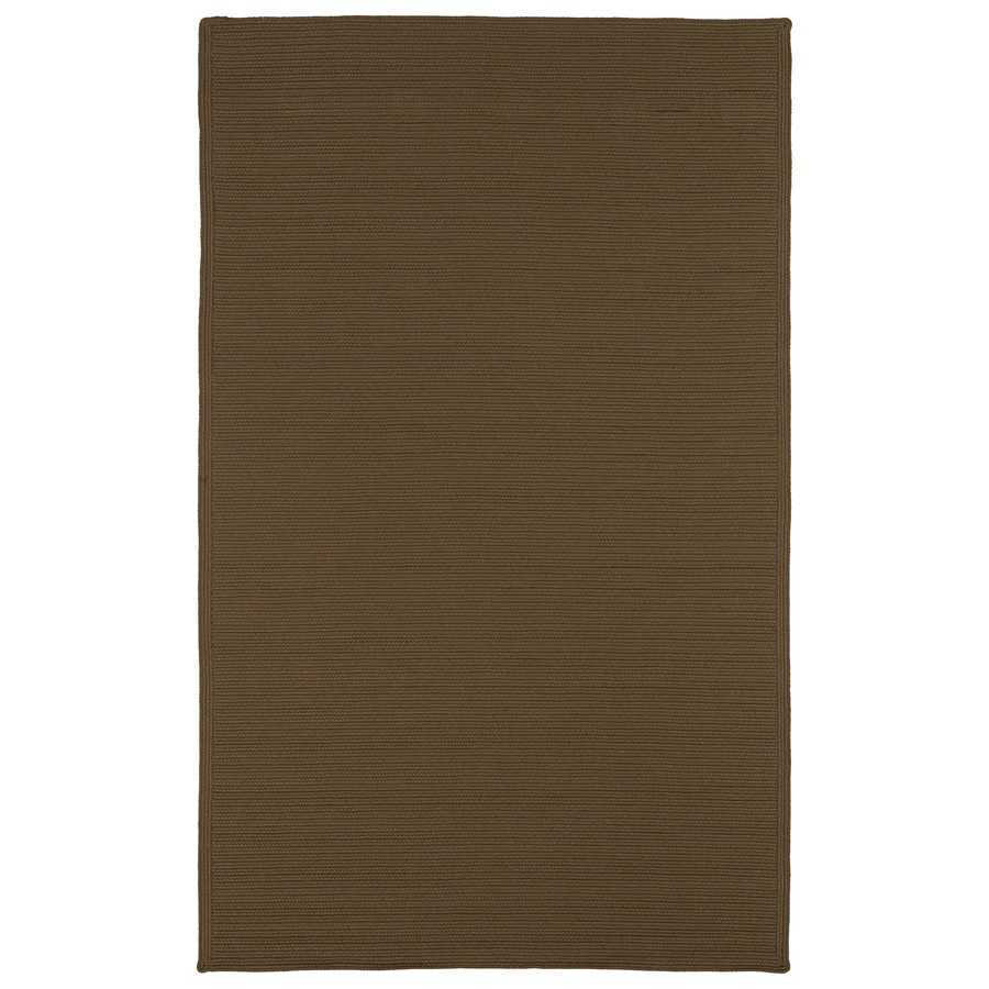 Kaleen Bikini Chocolate Rectangular Indoor/Outdoor Handcrafted Lodge Area Rug (Common: 9 x 12; Actual: 9-ft W x 12-ft L)