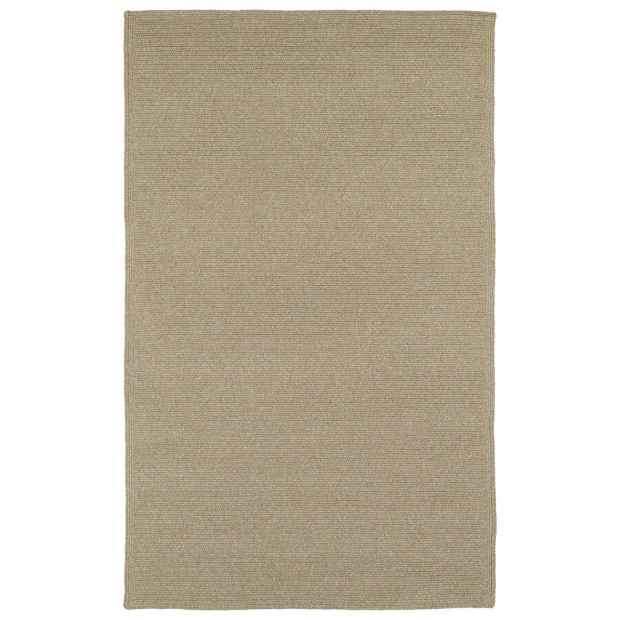 Kaleen Bikini Natural Rectangular Indoor and Outdoor Hand-Hooked Area Rug (Common: 9 x 12; Actual: 108-in W x 144-in L)