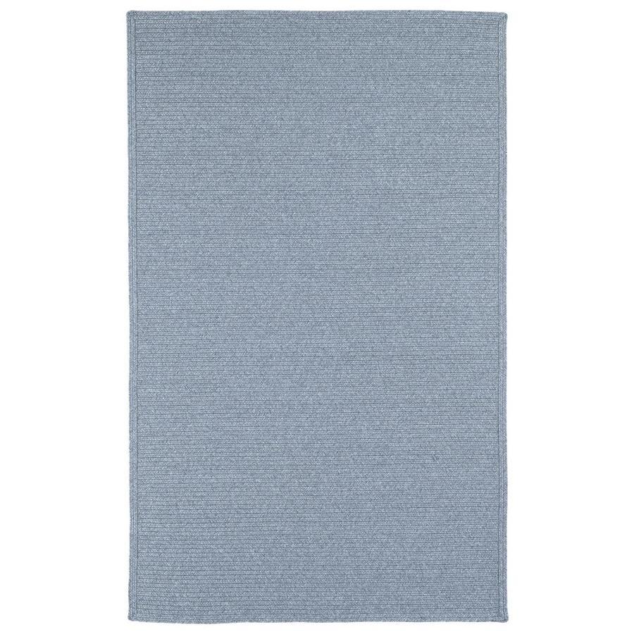 Kaleen Bikini Azure Rectangular Indoor/Outdoor Handcrafted Novelty Throw Rug (Common: 3 x 5; Actual: 3-ft W x 5-ft L)