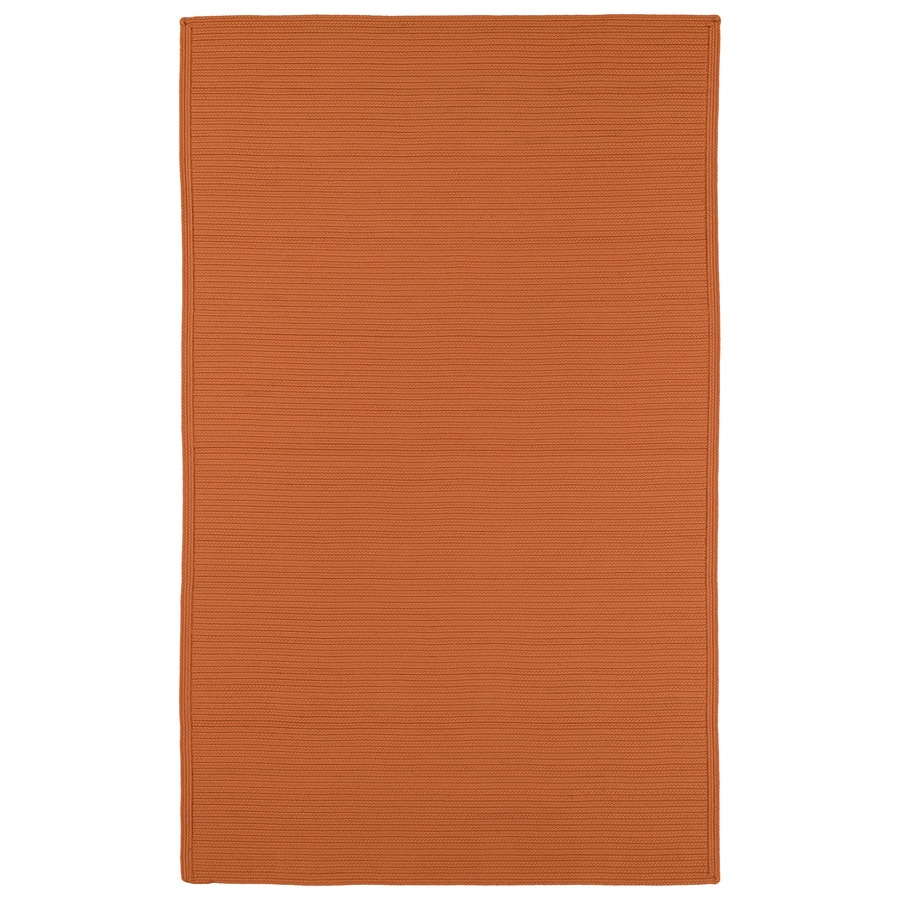 Kaleen Bikini Orange Rectangular Indoor/Outdoor Hand-Hooked Area Rug
