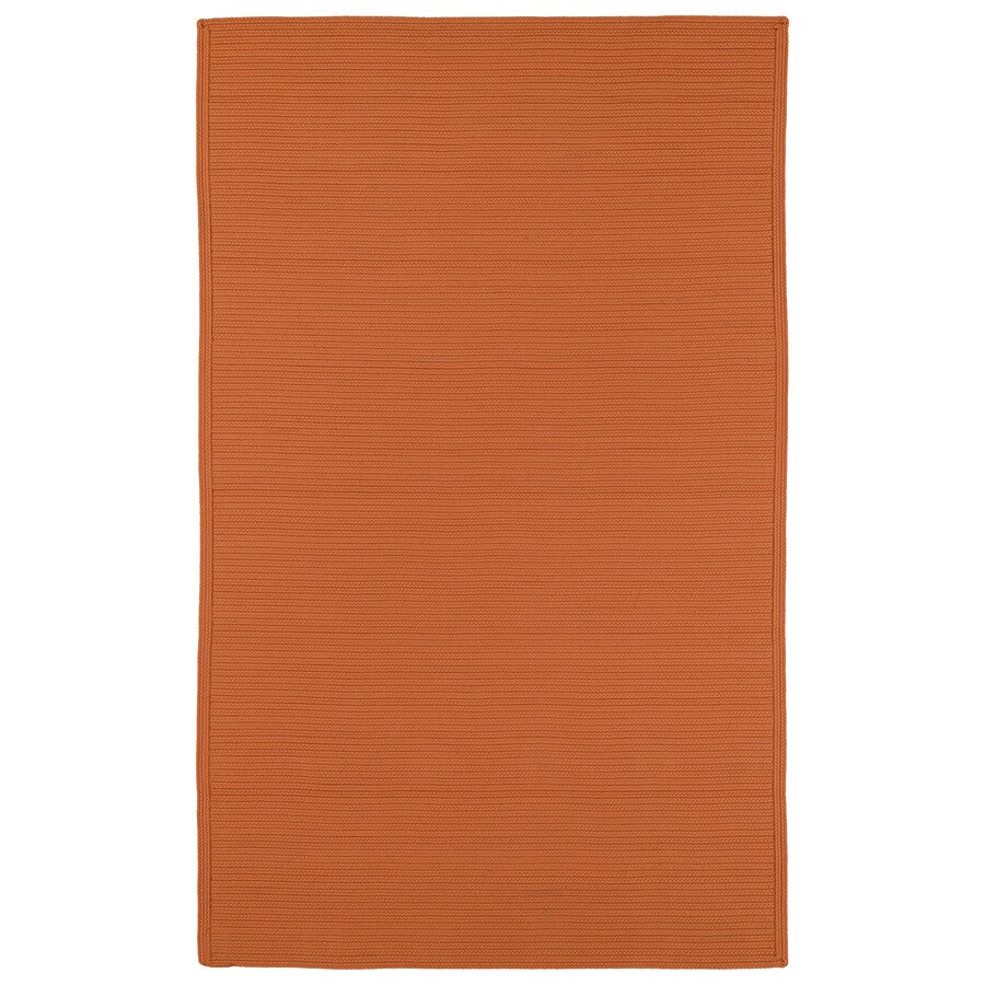 Kaleen Bikini Orange Rectangular Indoor and Outdoor Hand-Hooked Area Rug (Common: 8 x 11; Actual: 96-in W x 132-in L)