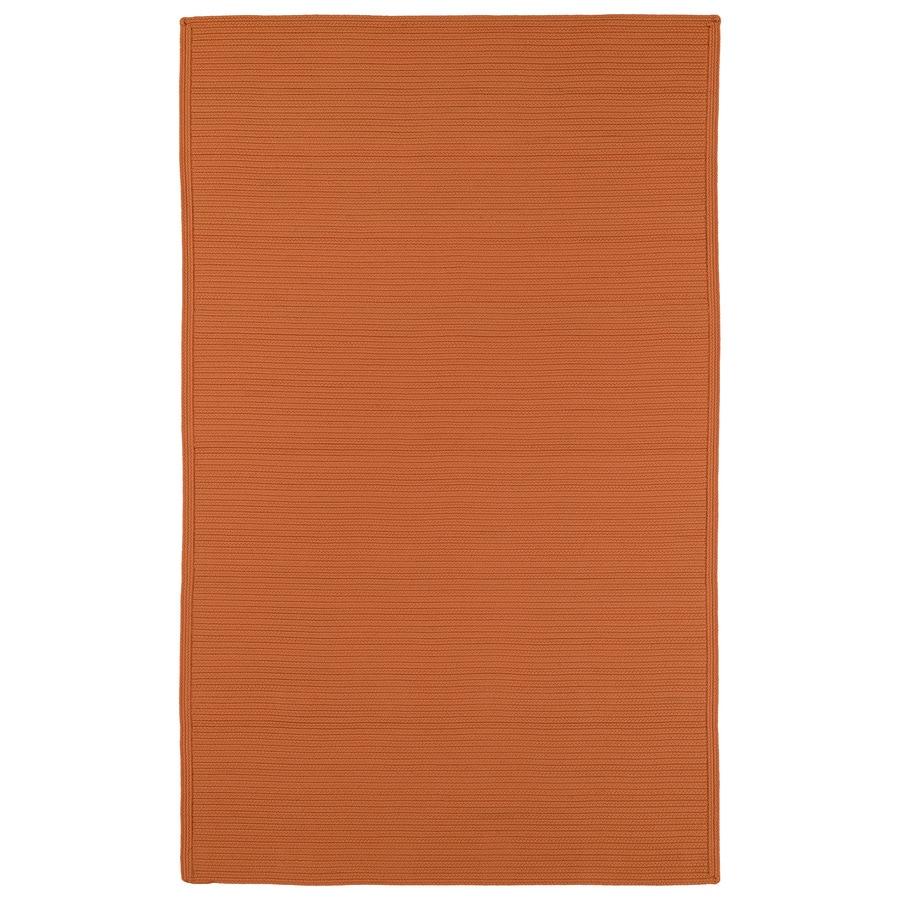 Kaleen Bikini Orange Rectangular Indoor and Outdoor Hand-Hooked Area Rug (Common: 9 x 12; Actual: 108-in W x 144-in L)