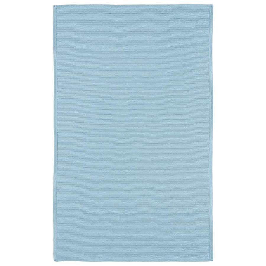 Kaleen Bikini Light Blue Rectangular Indoor/Outdoor Handcrafted Novelty Throw Rug (Common: 2 x 3; Actual: 2-ft W x 3-ft L)