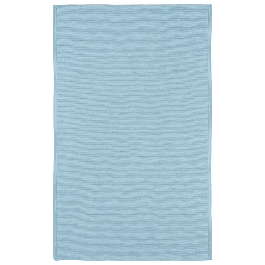 Kaleen Bikini Light Blue Rectangular Indoor and Outdoor Hand-Hooked Area Rug (Common: 5 x 8; Actual: 60-in W x 96-in L)
