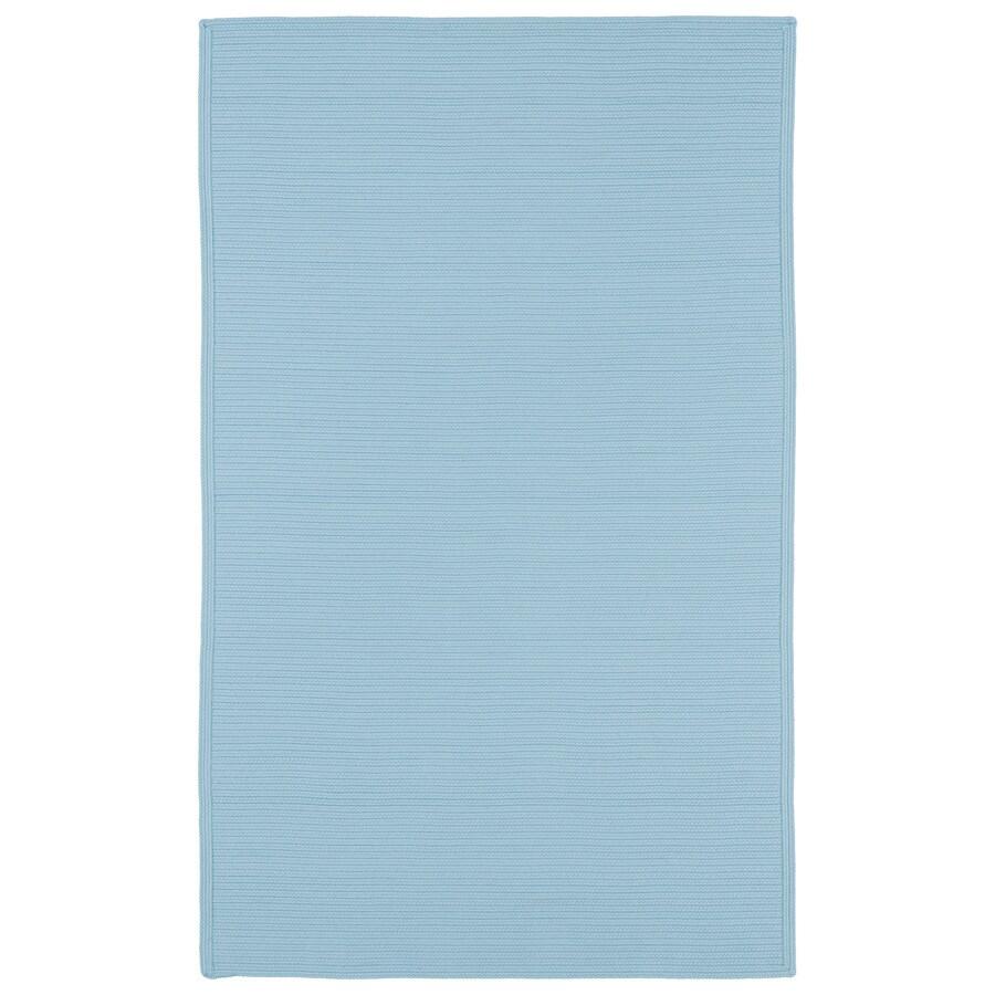 Kaleen Bikini Light Blue Rectangular Indoor and Outdoor Hand-Hooked Area Rug (Common: 8 x 11; Actual: 96-in W x 132-in L)