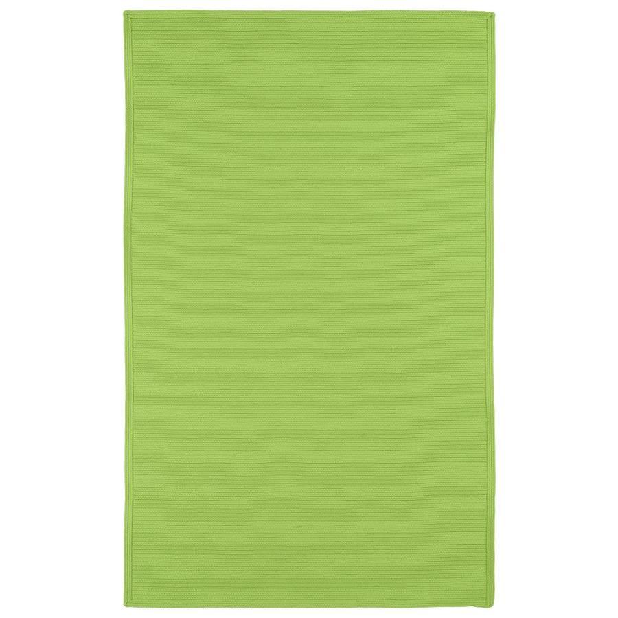 Kaleen Bikini Lime Green Rectangular Indoor/Outdoor Handcrafted Novelty Throw Rug (Common: 3 x 5; Actual: 3-ft W x 5-ft L)