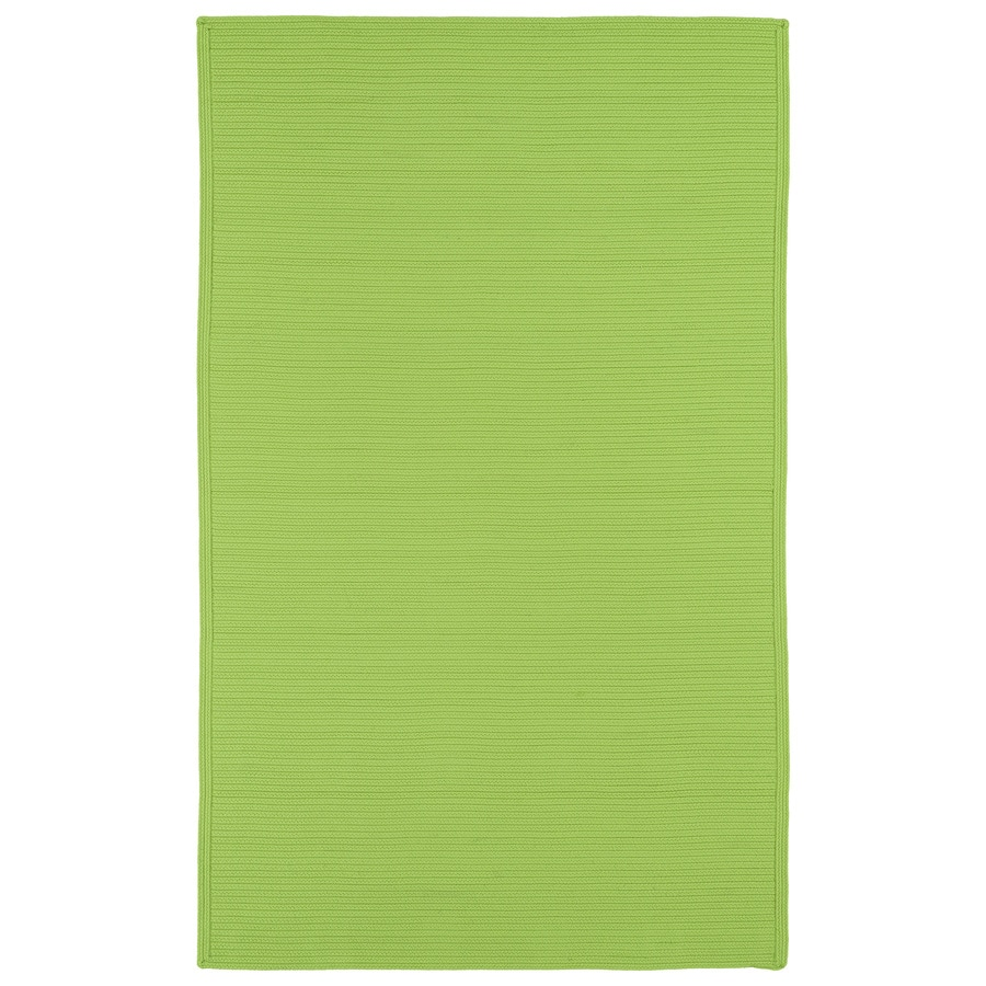 Kaleen Bikini Lime Green Rectangular Indoor/Outdoor Handcrafted Lodge Area Rug (Common: 8X11; Actual: 8-ft W x 11-ft L)