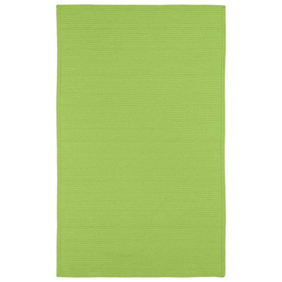 Kaleen Bikini Lime Green Rectangular Indoor/Outdoor Hand-Hooked Area Rug