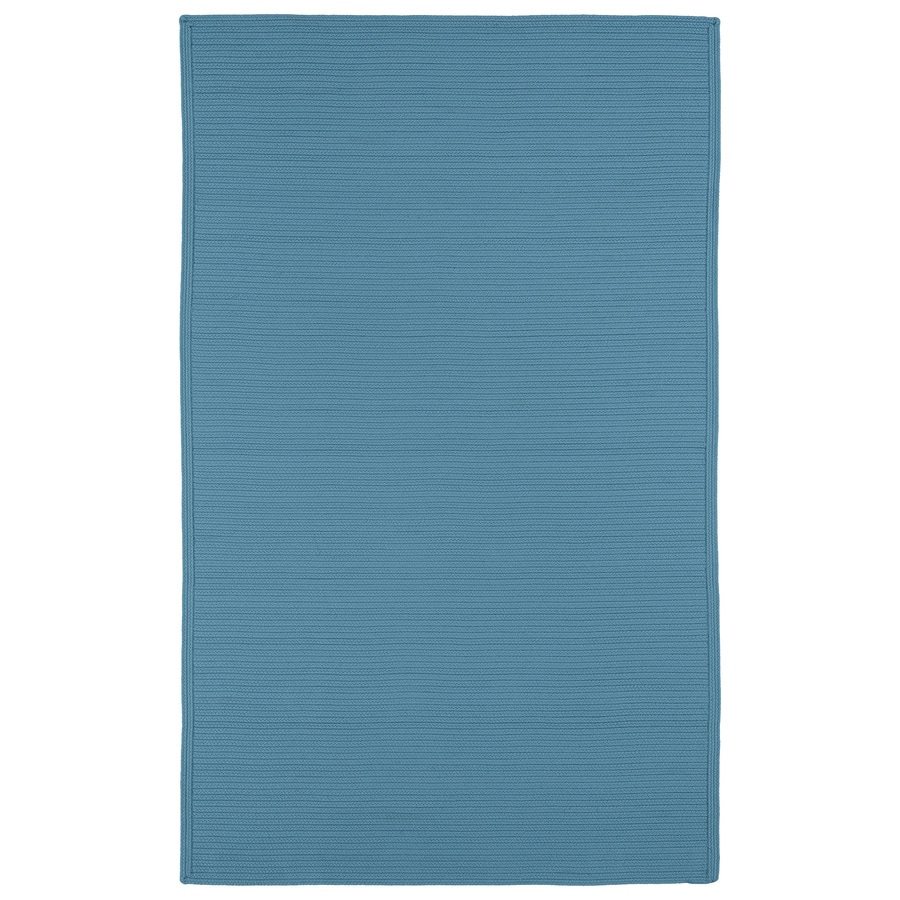 Kaleen Bikini Teal Rectangular Indoor/Outdoor Handcrafted Lodge Area Rug (Common: 5 x 7; Actual: 5-ft W x 8-ft L x 0-ft Dia)