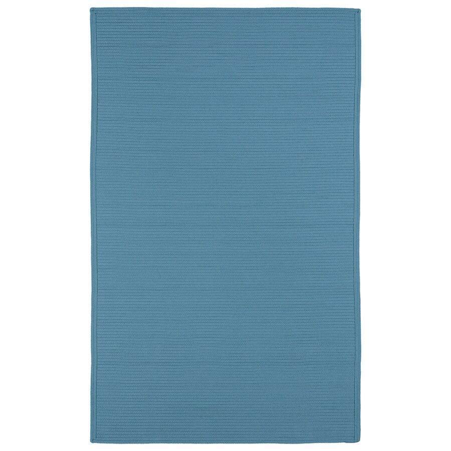Kaleen Bikini Teal Rectangular Indoor and Outdoor Hand-Hooked Area Rug (Common: 9 x 12; Actual: 108-in W x 144-in L)