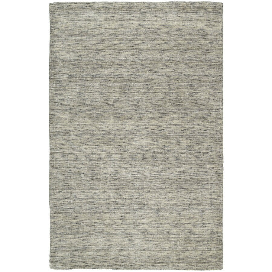 Kaleen Renaissance Graphite Indoor Handcrafted Lodge Throw Rug (Common: 3 x 5; Actual: 3-ft W x 5-ft L)
