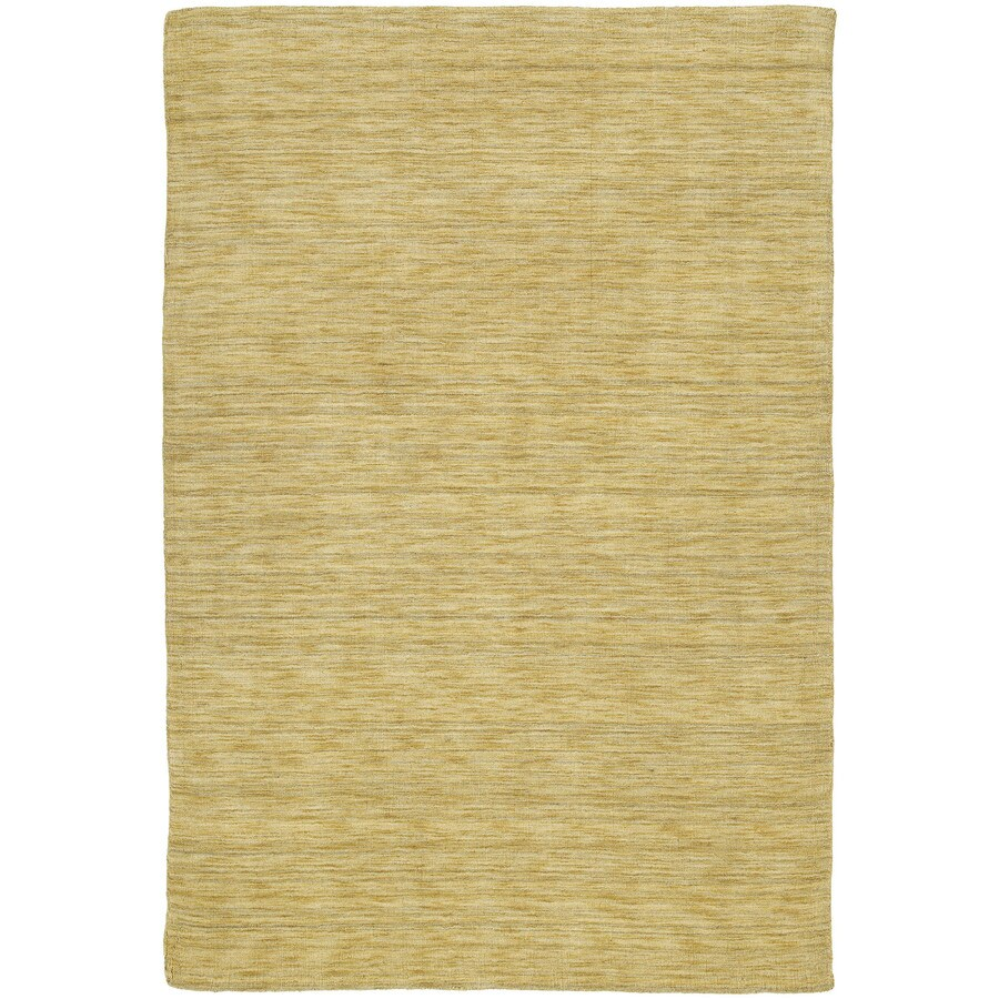 Kaleen Renaissance Butterscotch Rectangular Indoor Handcrafted Lodge Area Rug (Common: 5 x 7; Actual: 5-ft W x 7.5-ft L x 0-ft Dia)