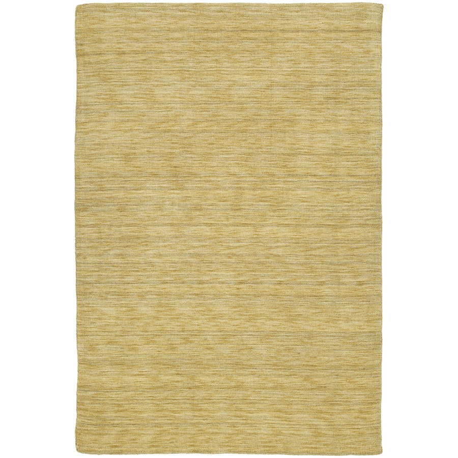 Kaleen Renaissance Butterscotch Indoor Handcrafted Lodge Area Rug (Common: 8 x 10; Actual: 7.5-ft W x 9-ft L)