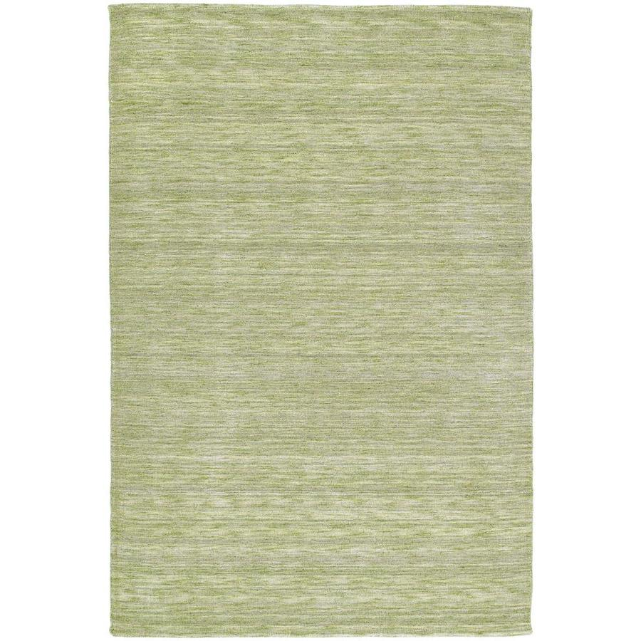 Kaleen Renaissance Celery Rectangular Indoor Handcrafted Lodge Area Rug (Common: 5 x 8; Actual: 5-ft W x 7.5-ft L)