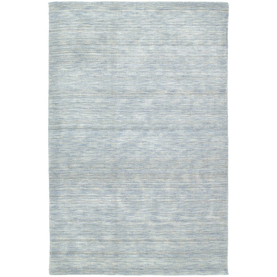 Kaleen Renaissance Azure Rectangular Indoor Handcrafted Lodge Throw Rug (Common: 3 x 5; Actual: 3-ft W x 5-ft L)