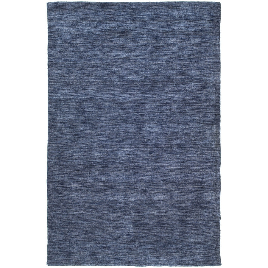 Kaleen Renaissance Blue Indoor Handcrafted Lodge Throw Rug (Common: 3 x 5; Actual: 3-ft W x 5-ft L)