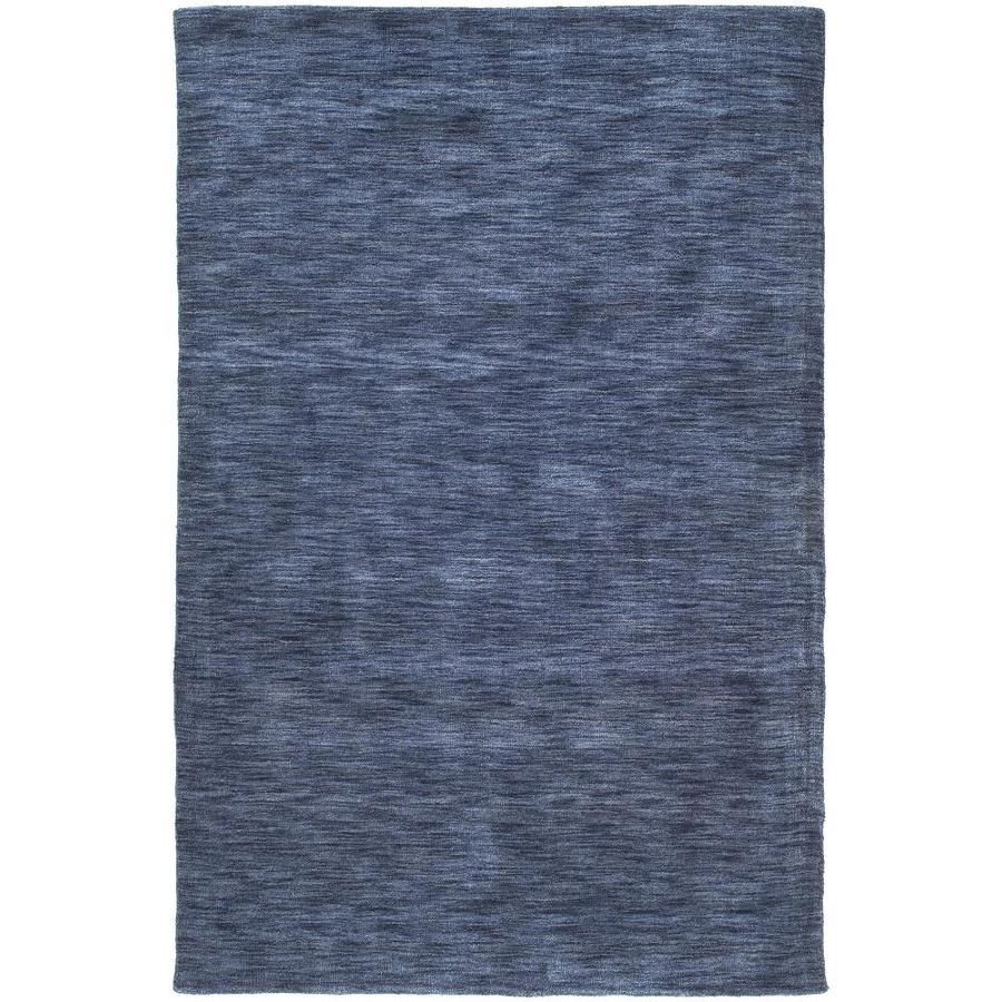 Kaleen Renaissance Blue Indoor Handcrafted Lodge Area Rug (Common: 8 x 12; Actual: 8-ft W x 11-ft L)