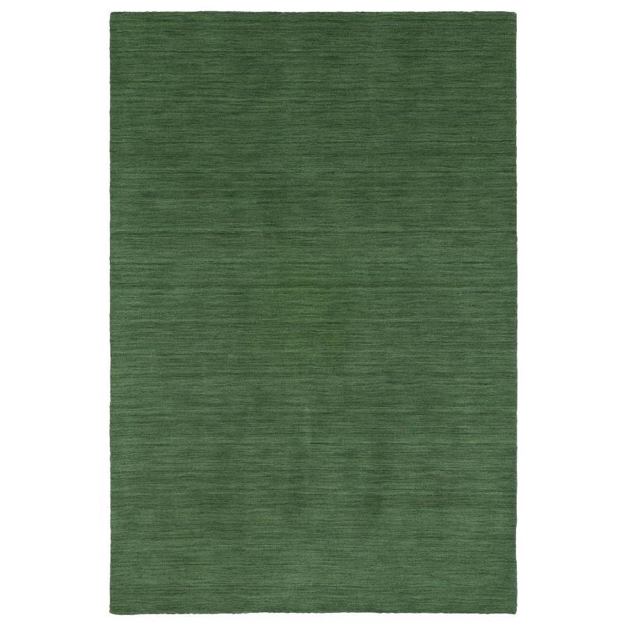 Kaleen Renaissance Emerald Indoor Handcrafted Lodge Area Rug (Common: 10 x 13; Actual: 9.5-ft W x 13-ft L)