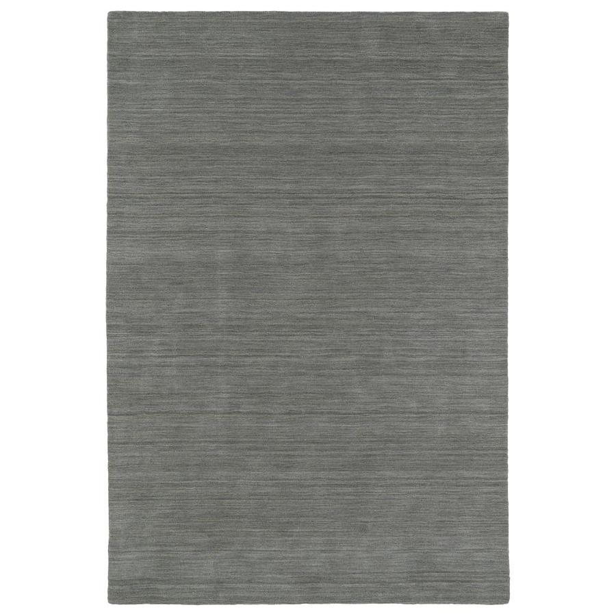 Kaleen Renaissance Silver Indoor Handcrafted Lodge Throw Rug (Common: 3 x 5; Actual: 3-ft W x 5-ft L)