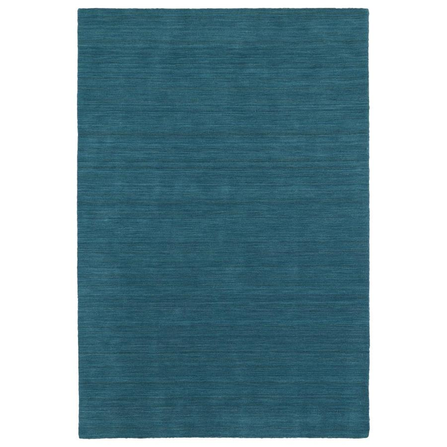 Kaleen Renaissance Turquoise Rectangular Indoor Handcrafted Lodge Area Rug (Common: 8 x 11; Actual: 8-ft W x 11-ft L)