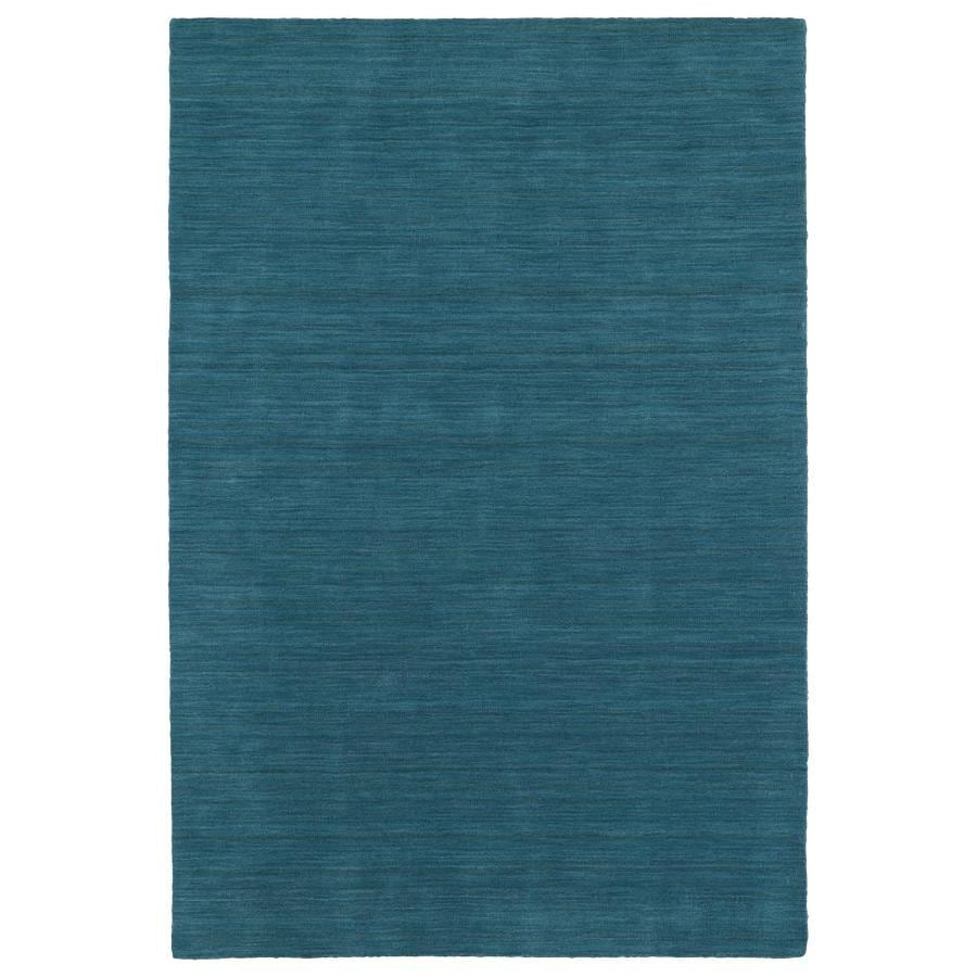 Kaleen Renaissance Turquoise Rectangular Indoor Handcrafted Lodge Area Rug (Common: 10 x 13; Actual: 9.5-ft W x 13-ft L)