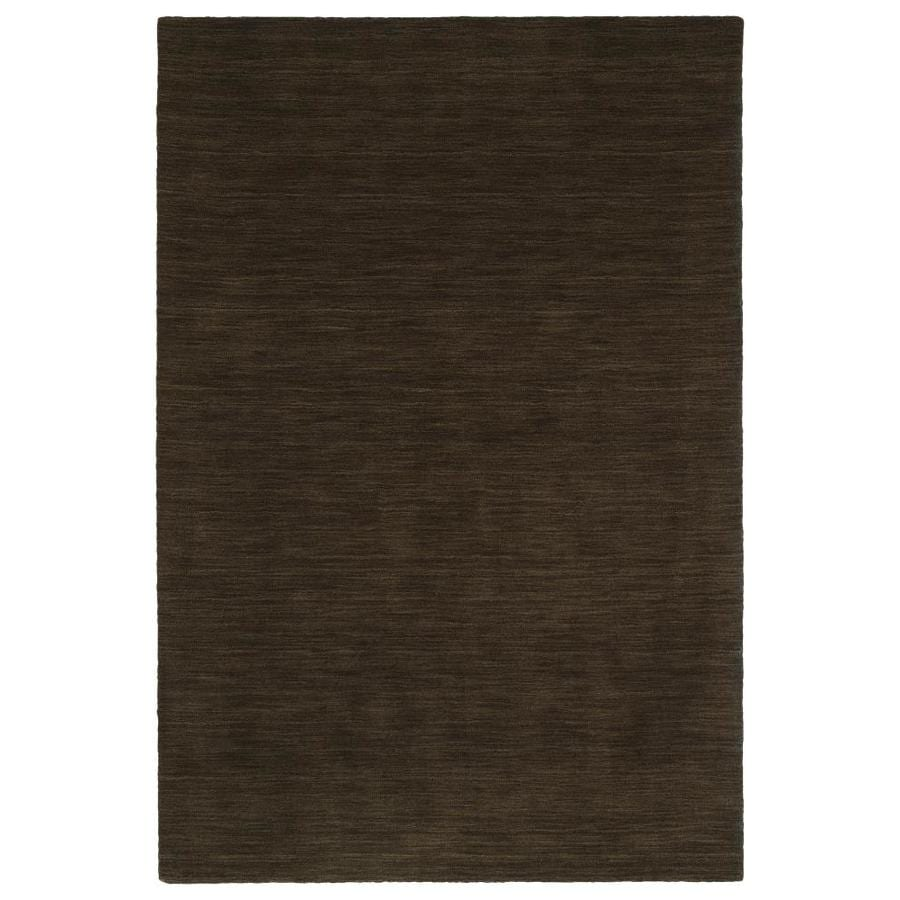 Kaleen Renaissance Chocolate Indoor Handcrafted Lodge Throw Rug (Common: 3 x 5; Actual: 3-ft W x 5-ft L)
