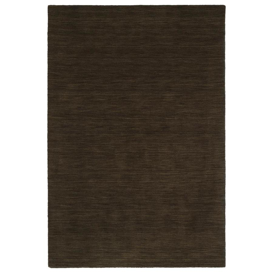 Kaleen Renaissance Chocolate Rectangular Indoor Handcrafted Lodge Area Rug (Common: 8 x 9; Actual: 7.5-ft W x 9-ft L)