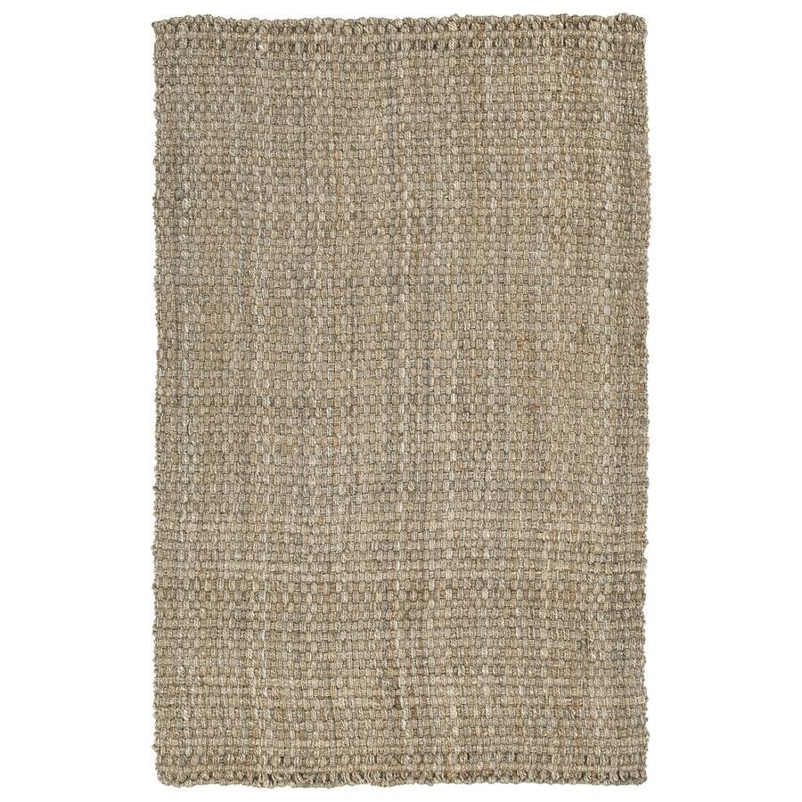 Kaleen Essentials Natural Rectangular Indoor Tufted Area Rug (Common: 8 x 10; Actual: 96-in W x 120-in L)