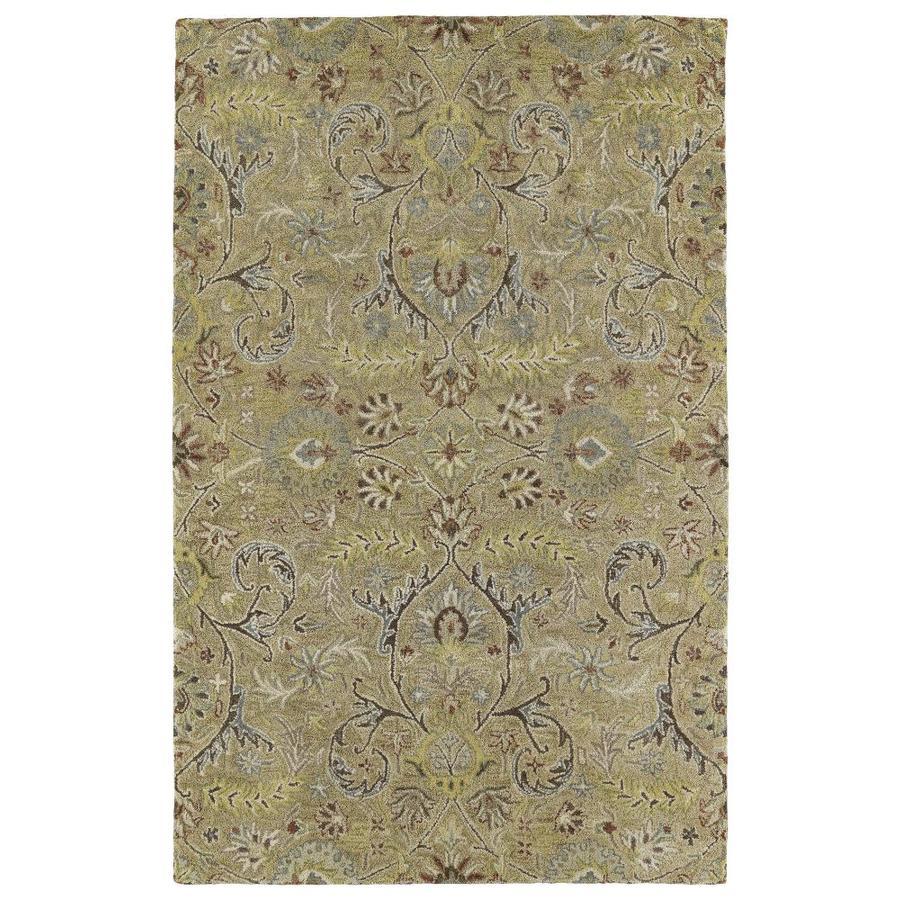 Kaleen Helena Gold Rectangular Indoor Handcrafted Oriental Area Rug (Common: 4 x 6; Actual: 4-ft W x 6-ft L)